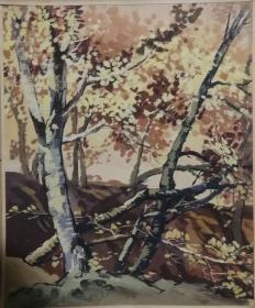山西著名女画家杜晓云水粉作品一幅(022保真)
