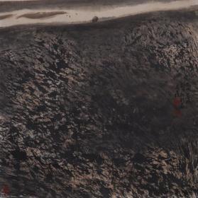 著名书画家、甘肃画院高级画师 蒋志鑫 国画作品一幅(纸本托片,画芯尺寸:69*69cm,约4.2平尺,钤印:蒋、志鑫) HXTX383592