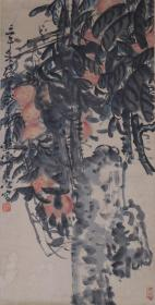 吴昌硕门弟子、著名画家 赵云壑 国画作品一幅(纸本立轴,画芯尺寸:68*34cm,钤印:赵子云) HXTX383602