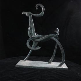 """著名艺术家、""""福娃之父""""韩美林 雕塑作品《鹿》(重量:5.55KG)HXTX384689"""
