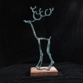 """著名艺术家、""""福娃之父""""韩美林 雕塑作品《鹿》(重量:1.15KG)HXTX384690"""