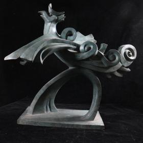 """著名艺术家、""""福娃之父""""韩美林 雕塑作品《凤凰》(重量:13.1KG)HXTX384695"""
