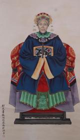清代著名佛学画家 周德 国画《清代人物》作品一幅(纸本立轴,画芯尺寸:130*55cm,约6.4平尺,钤印:子安等) HXTX383596