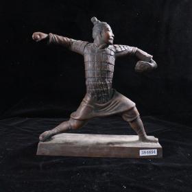 著名艺术家  刘尧远 雕塑作品《奥运兵马俑系列——棒球》(重量:3.75KG)HXTX384694