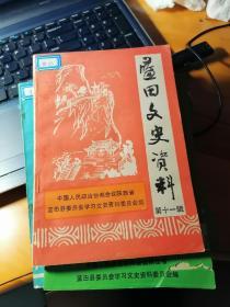 蓝田文史资料  第11辑