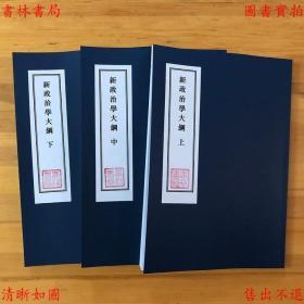 【复印件】新政治学大纲-(民)高振清著-民国上海社会经济学会刊本