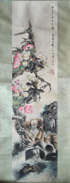 海上画派代表之一金梦石 花卉图出版保真