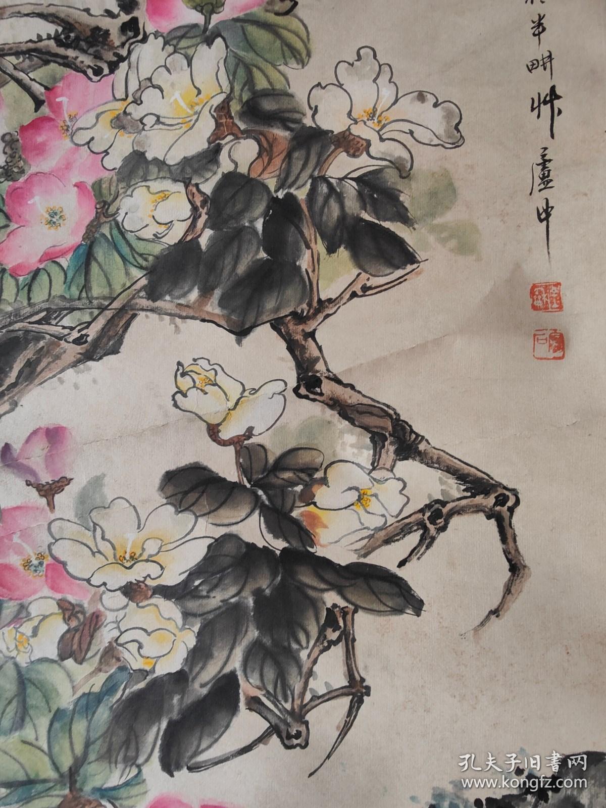 海上画派代表之一金梦石 花卉图   西泠印社岀版包真