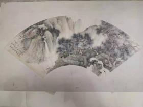 绘画、鉴赏、收藏于一身的二十世纪中国画坛一位重要的画家 吴湖帆精品扇面. 西冷印社出版 包真包退换