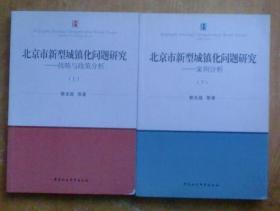 北京市新型城镇化问题研究(上下)