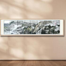 【放漏结缘·保真】国家一级美术师、山东省美术家协会理事 张民生  山水作品