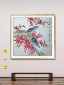 【放漏结缘·保真】 中国书画家协会理事、中国书画家研究院院士 薛瑛 工笔画《一鸣惊人》