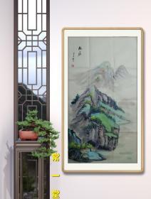 【放漏结缘·保真】国家一级美术师、山东美协会员、中国书画家协会会员  胡明彦 山水作品