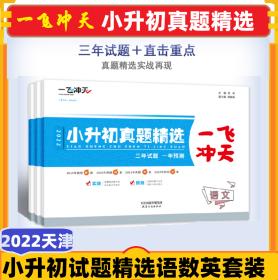2022小升初真题精选一飞冲天天津各区县升学模拟语文数学英语套装
