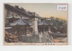 北京颐和园轮传藏昆明湖碑清末民初老明信片