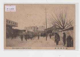 山海关市街民国老明信片