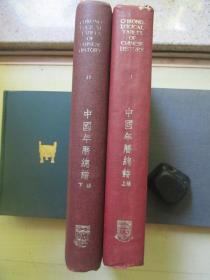 1960年香港大学出版16开精装2厚册全:中国年历总谱