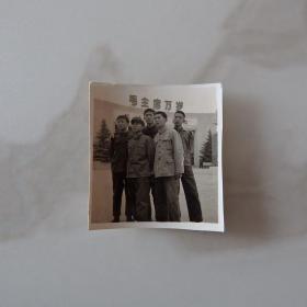 河南影像原版老照片收藏《河南省博物馆广场合影》659#
