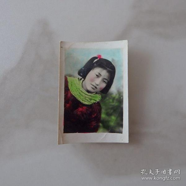 河南影像原版老照片收藏《女士半身像》手工上色656#