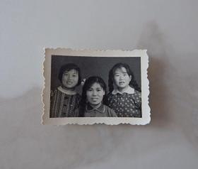 河南影像原版老照片收藏《三姊妹合影》652#