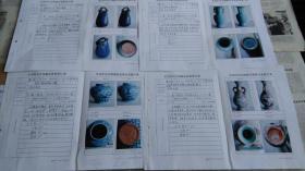 藏品档案4本,贴照片16张,有藏家对藏品的描述说明等。
