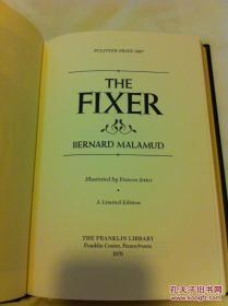 【包邮】1978年富兰克林图书馆一版一印 Franklin Library限量版经典普利策小说奖之《修配工》(The Fixer)
