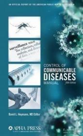 【包邮】Control of Communicable Diseases Manual APHA