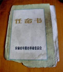 1979年-任命书-【安徽省阜阳市革命委员会】