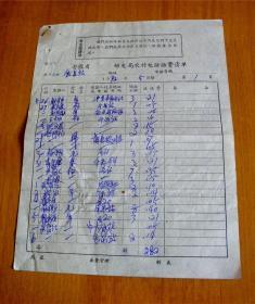 安徽省邮电局农村电话话费清单-【1972年5月】