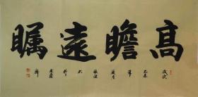 【保真】山东书协会员、知名书法家张健作品:高瞻远瞩