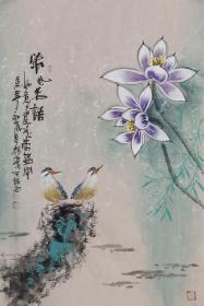 【保真】实力派画家天语作品:清风若雨