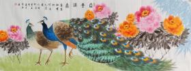 【全网独家授权代理】河南省美协会员陈浩作品:富贵 满堂