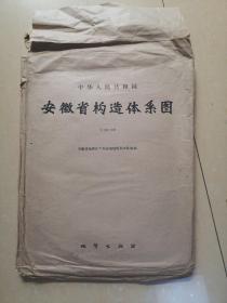3 中华人民共和国 安徽省构造体系图