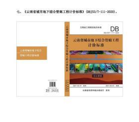 正版 2020年版云南省城市地下综合管廊工程计价标准 云南预算定额