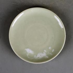 景德镇567老厂货瓷器 70年代柴窑堆白花卉盘