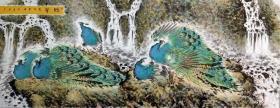 【永久保真 巨幅特惠】青年艺术家 重庆市綦江区美协会员 王孝华 一丈二整张花鸟1