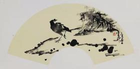 【保真】江西美协会员 中国人民大学画院计建清工作室画家 汪建新 花鸟小品卡板3