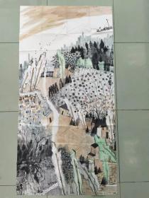 【保真】中美协会员 国家一级美术师 杨帅 四尺整张山水4