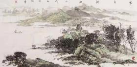 【保真 特惠】中美协会员 李振华 四尺整张山水2