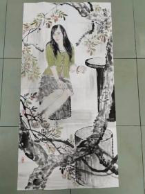 【保真 特惠】青年潜力艺术家 中国艺术研究院研究生 张亮 四尺整张人物4