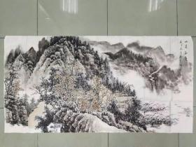 【保真 特惠】中美协山河画会创作员会员 满维起工作室画家 薛广宇 四尺整张国画7