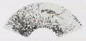 【保真 特惠】江西美协会员 中国人民大学画院计建清工作室画家 汪建新 花鸟小品卡板2