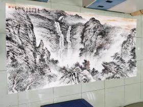 【永久保真 巨幅特惠】齐齐哈尔市美术家协会理事 中国国画家协会理事 于恩沛 八尺巨幅整张国画山水2