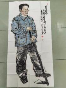 【保真】甘肃美协会员 兰州工业学院艺术设计学院副教授 吴江 四尺整张人物3