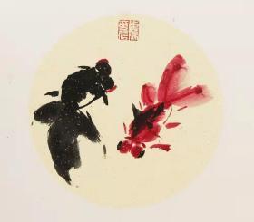 【保真】中美协会员 吴东魁 花鸟小品卡板3