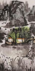 【保真】中美协会员 国家一级美术师 杨帅 四尺整张山水3