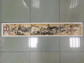 【保真 特惠】中美协会员 安徽省巢湖市美协主席 周圣祥 山水横幅1