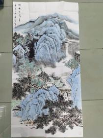 【保真 特惠】中美协山河画会创作员会员 满维起工作室画家 薛广宇 四尺整张国画8