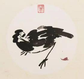 【保真】中美协会员 吴东魁 花鸟小品卡板1