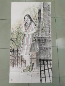 【保真 特惠】青年潜力艺术家 中国艺术研究院研究生 张亮 四尺整张人物3